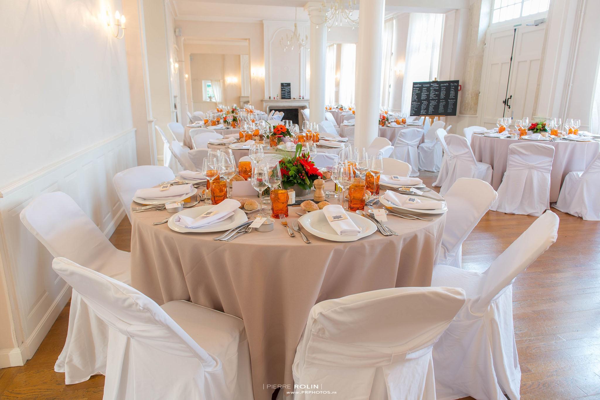 Mariage – Salle de réception dans le château