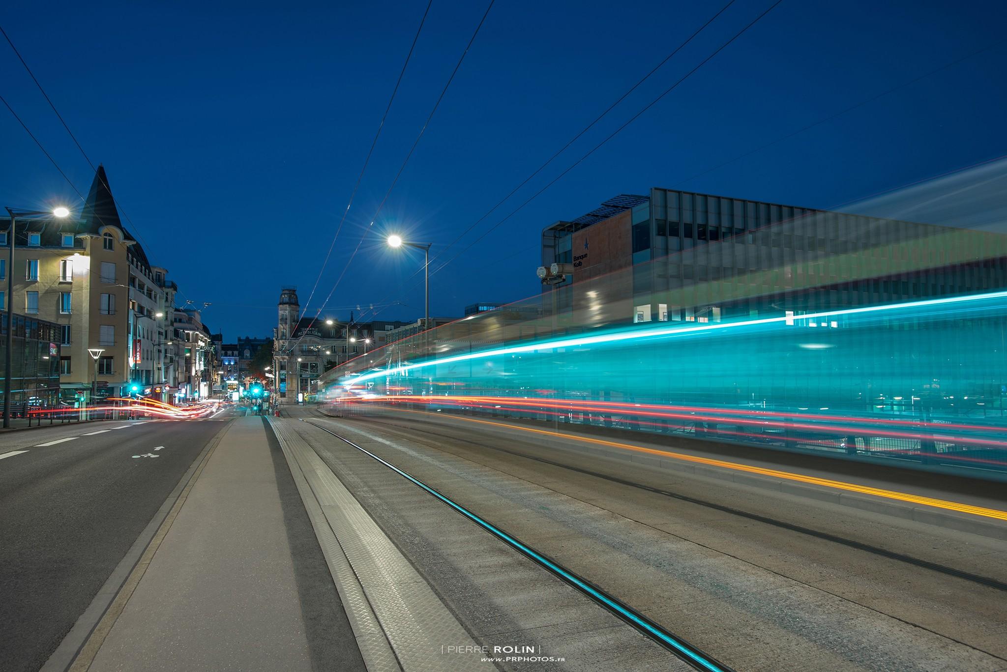 Pose longue à Nancy centre | Paysage de nuit © Pierre ROLIN - Photographe Nancy - Lorraine / Grand Est