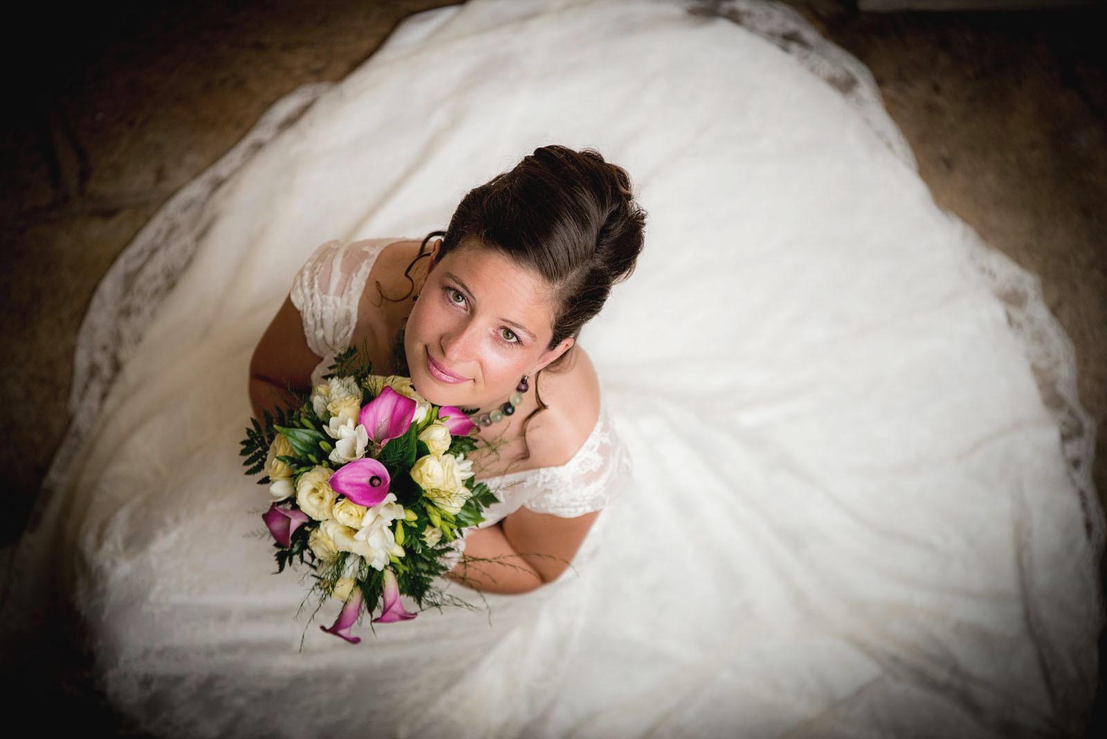 Mariage – Vue originale plongeante