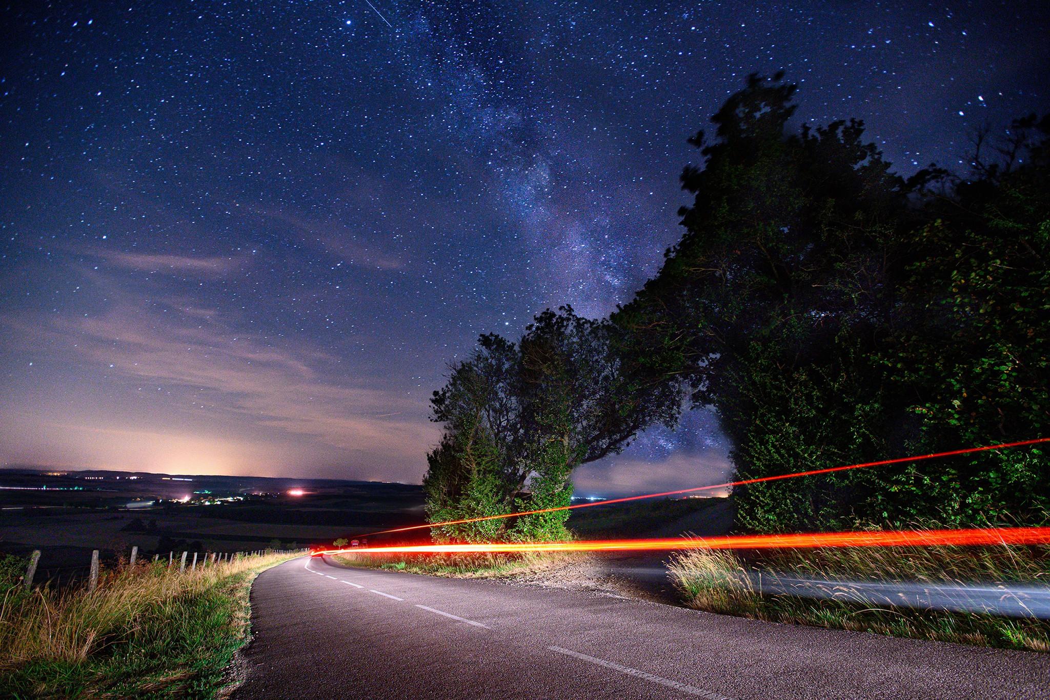 Voie lactée sur la colline de Sion | Paysages de nuit © Pierre ROLIN - Photographe Nancy - Lorraine / Grand Est