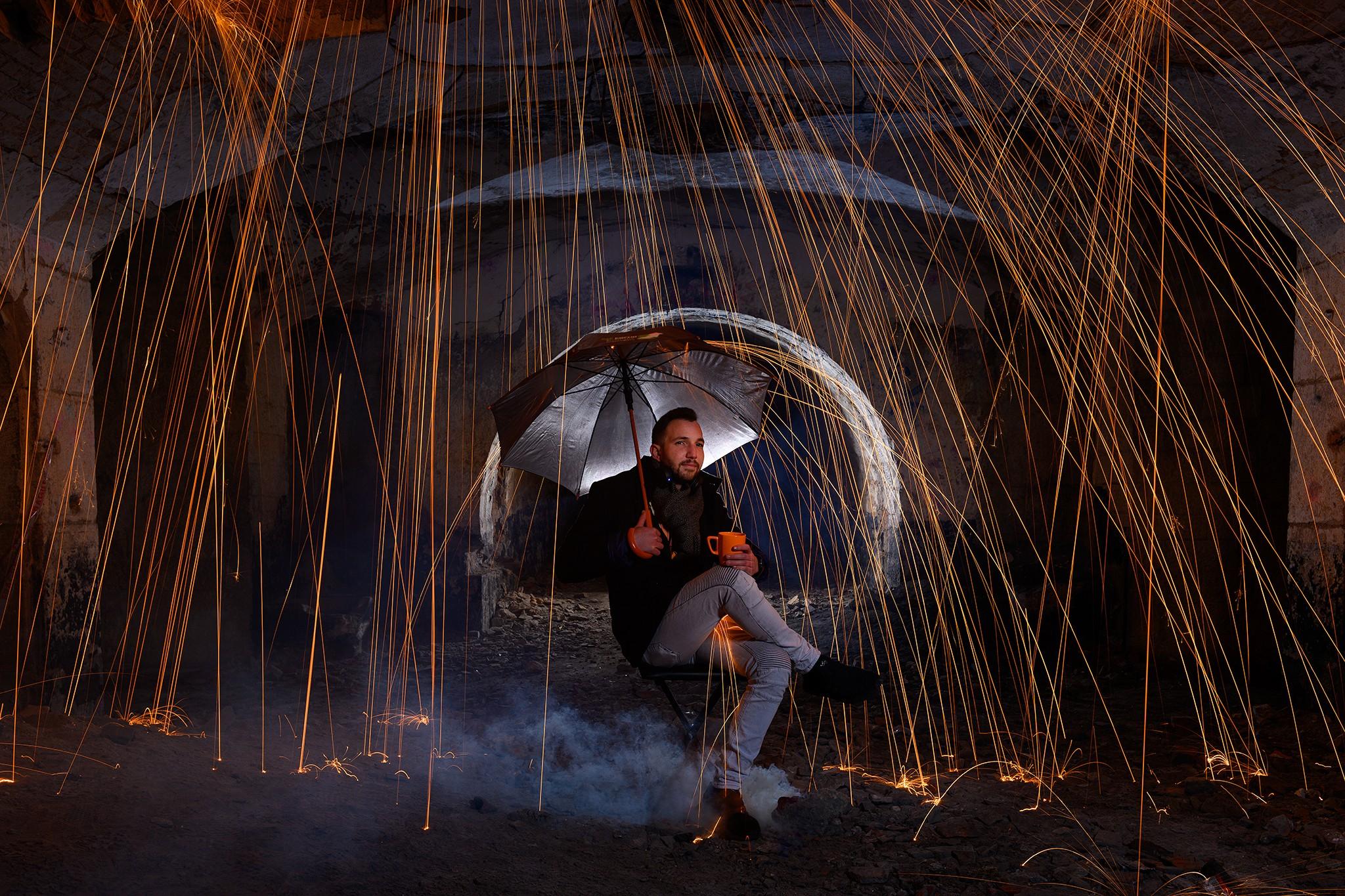 Photo corporate pour un architecte d'intérieur | lightpainting