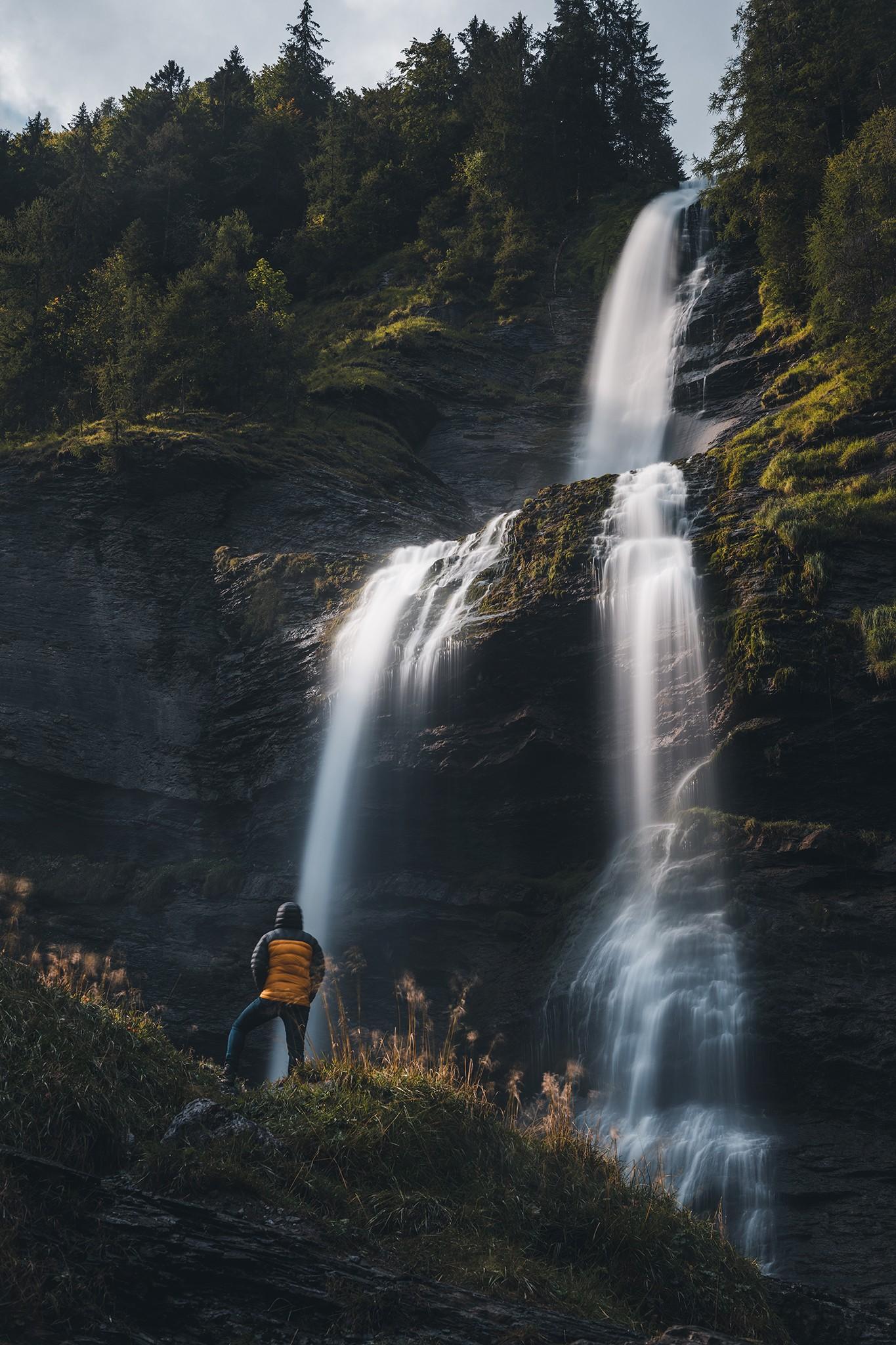 Pose longue à la Cascade du Rouget, Sixt Fer-à-Cheval   Savoie – Mont-Blanc