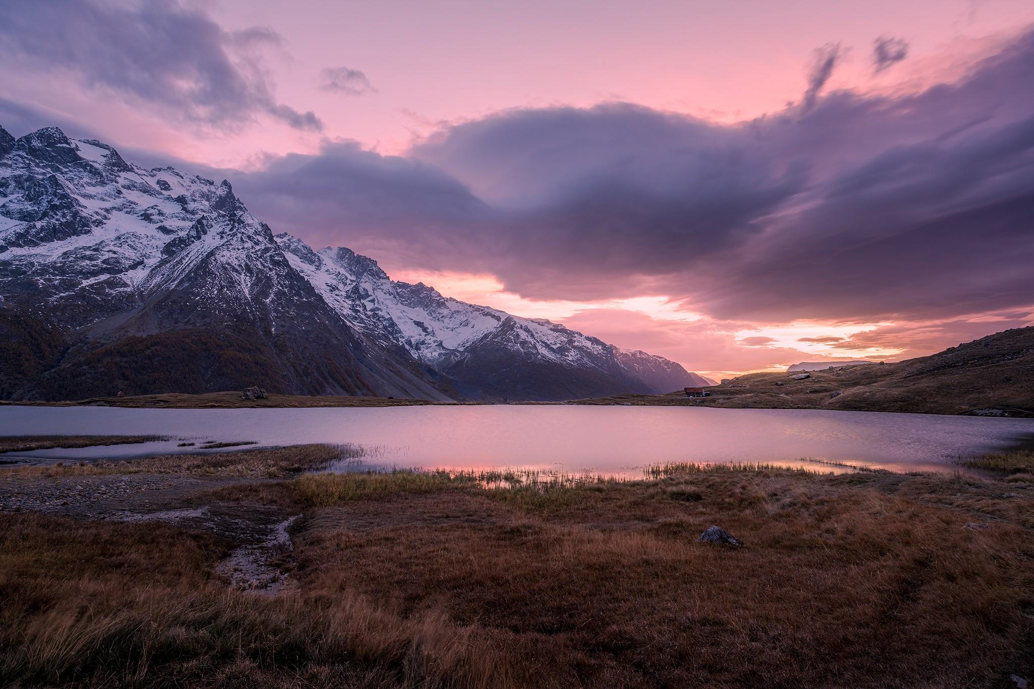 Soleil couchant sur le Lac du Pontet | Hautes-Alpes