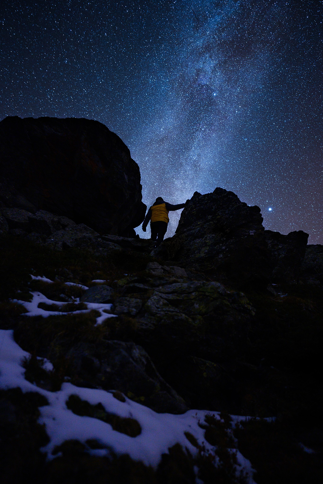 Face à la Voie lactée, astrophotographie | Vallée de la Clarée