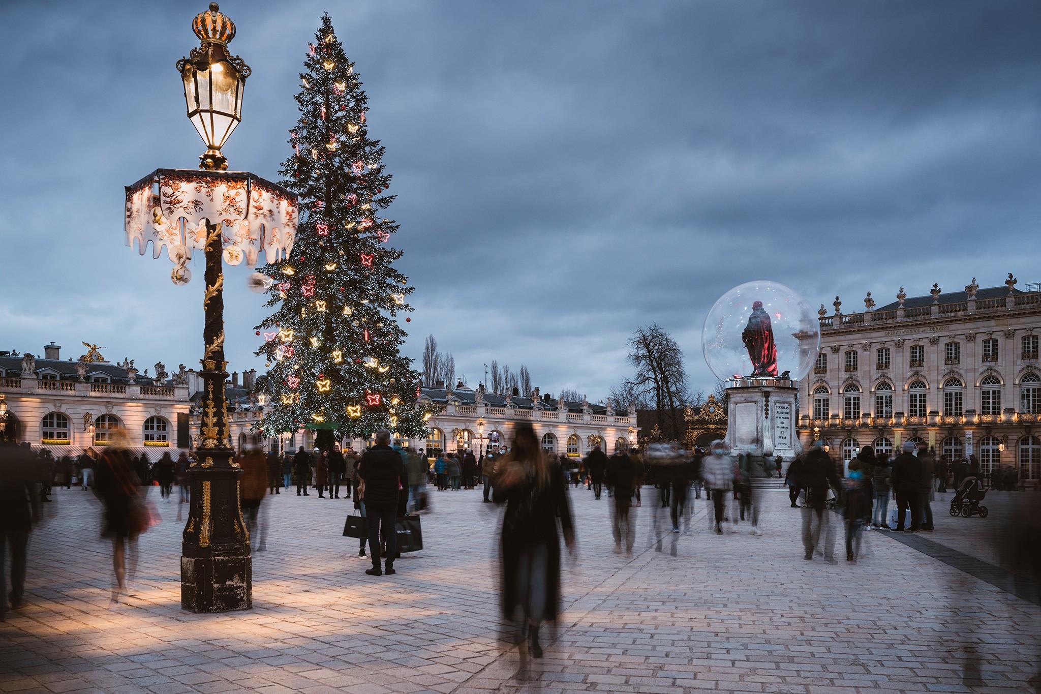 Pose longue Place Stanislas, fêtes de fin d'année | Nancy © Pierre ROLIN - Photographe Nancy - Lorraine / Grand Est
