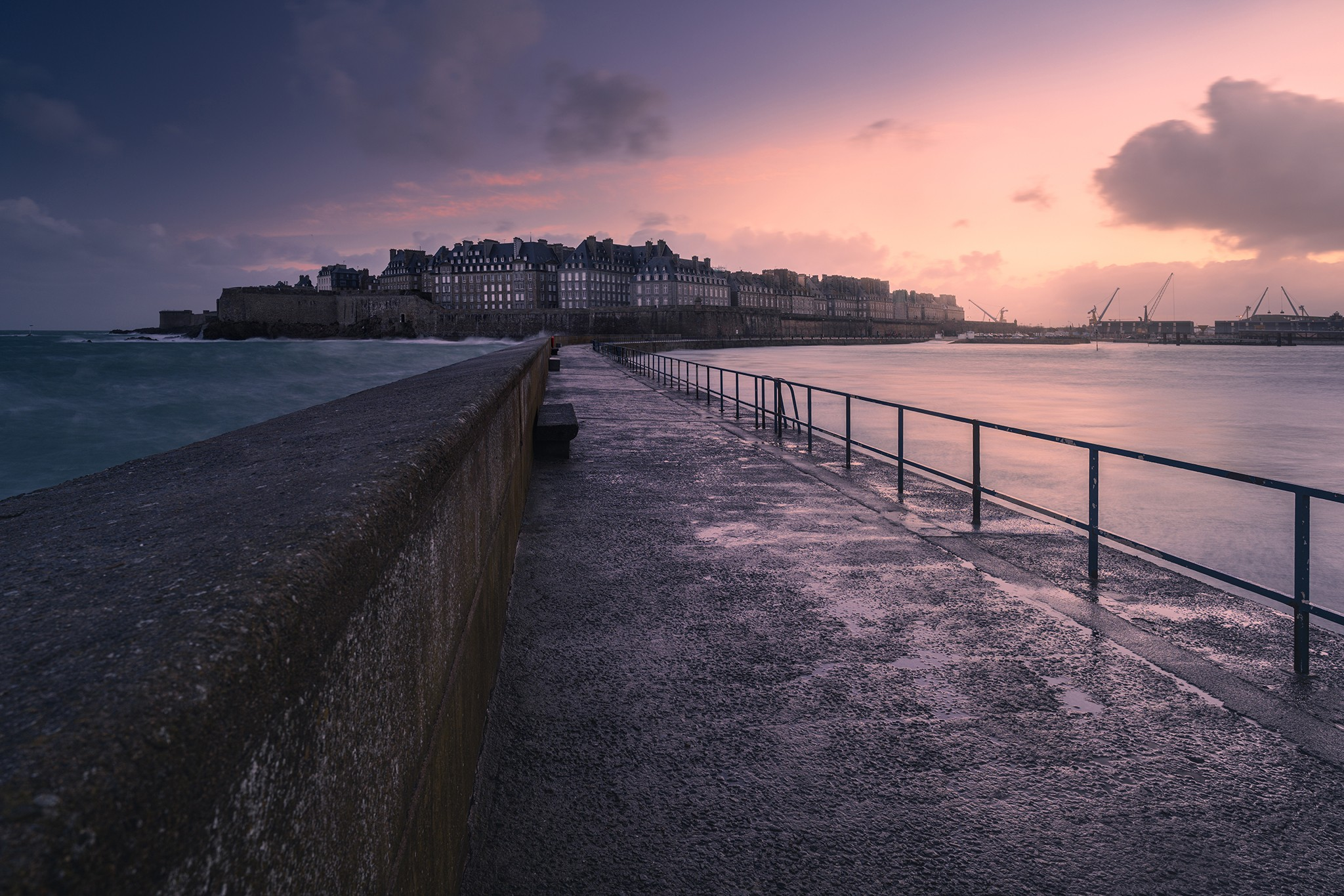 Saint-Malo depuis la jetée | Bretagne