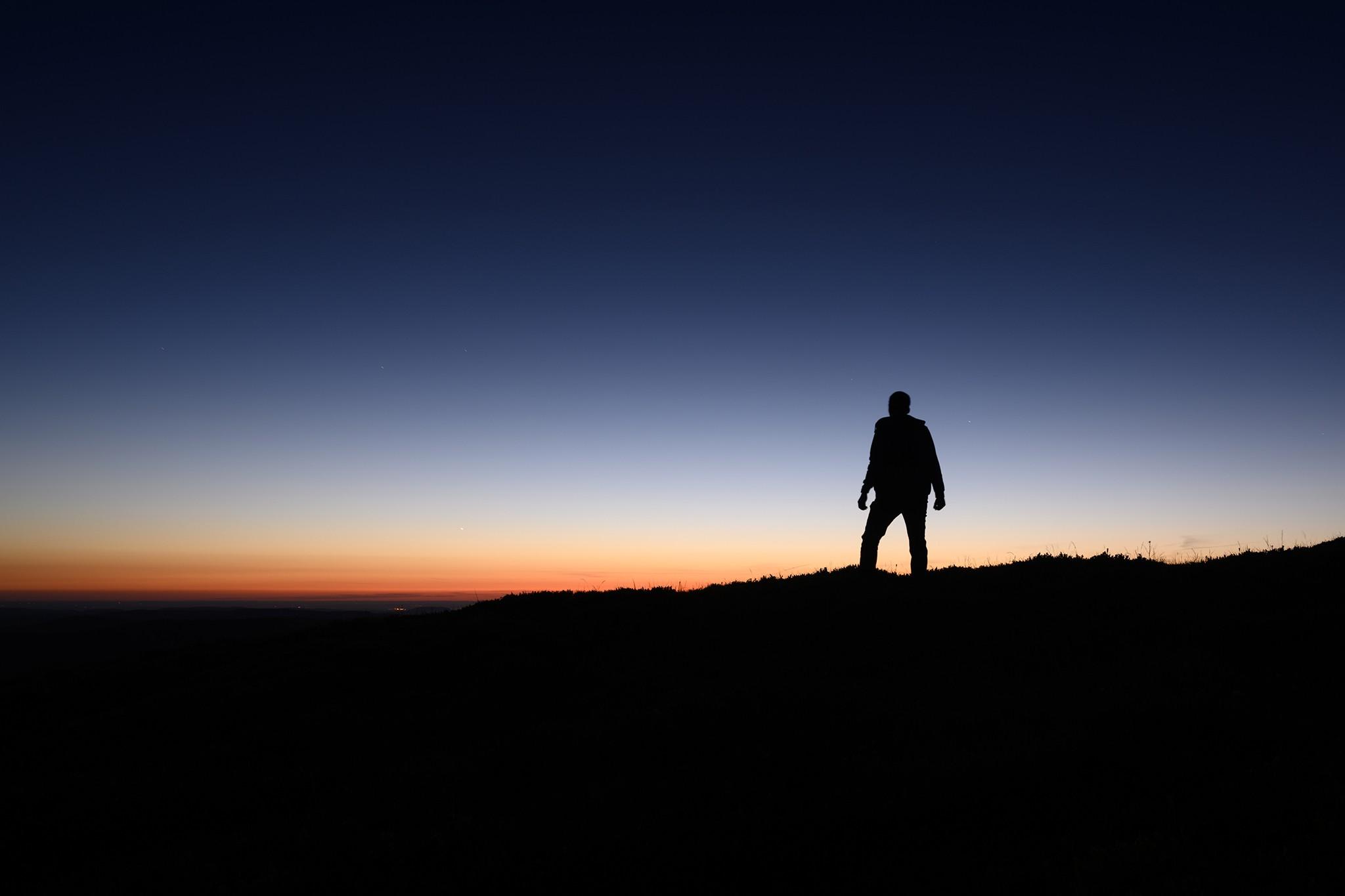 Silhouette dans le coucher de soleil | Vosges © Pierre ROLIN - Photographe Nancy - Lorraine / Grand Est