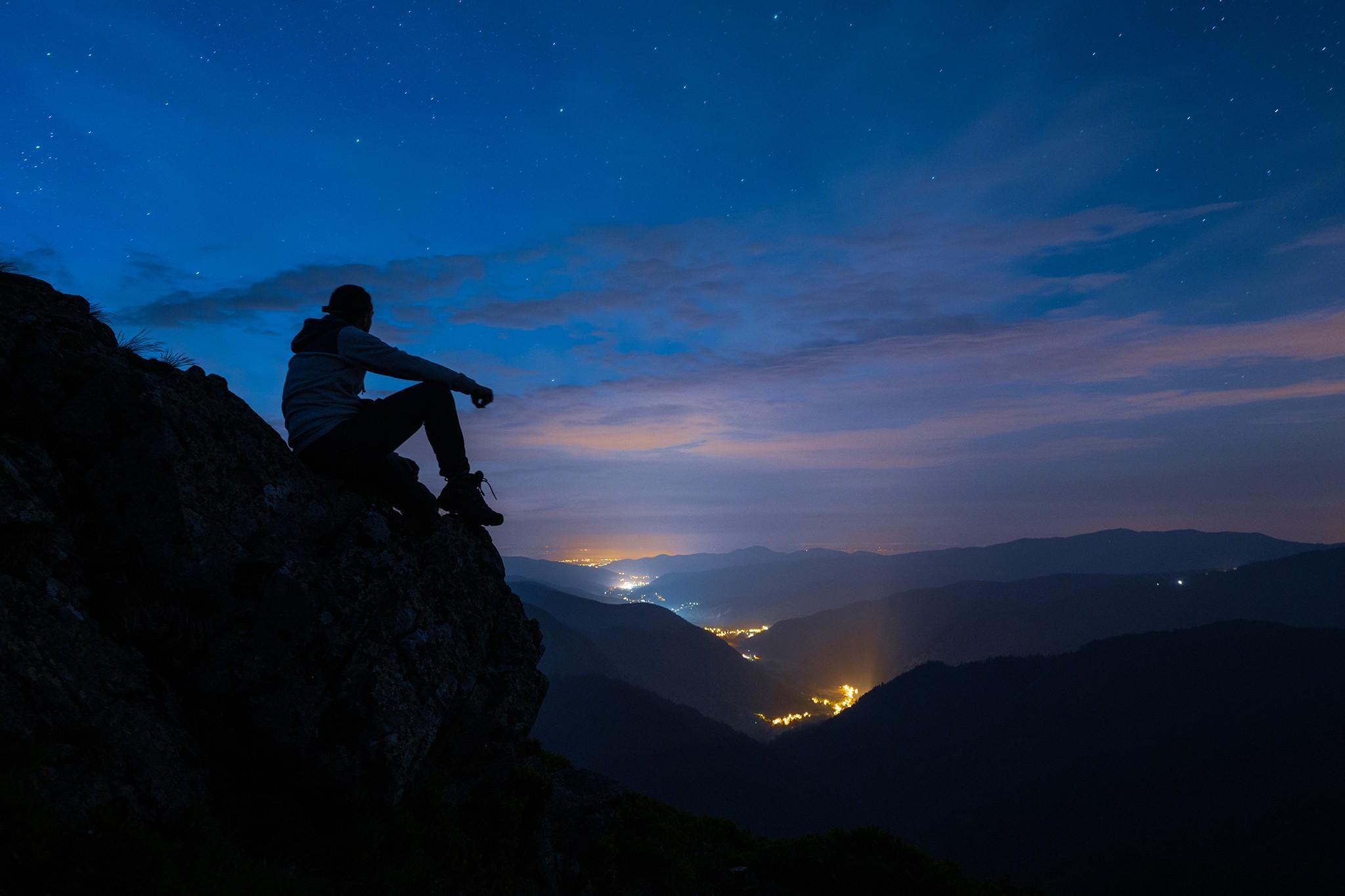 Heure bleue sur les reliefs des Vosges | Rothenbachkopf © Pierre ROLIN - Photographe Nancy - Lorraine / Grand Est